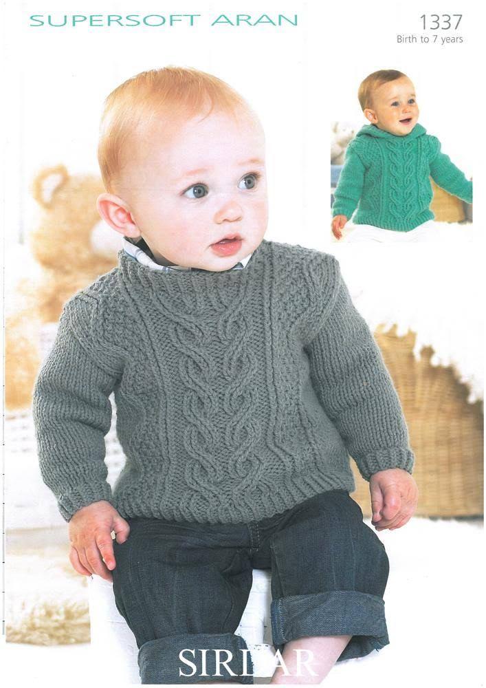 Sirdar Supersoft Aran Sweater - 1337   margaret wanjiru   Pinterest ...
