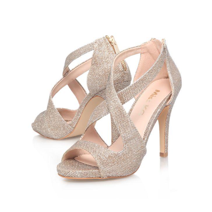 cf0b7b88e379 Shae Gold High Heel Sandals By Miss KG