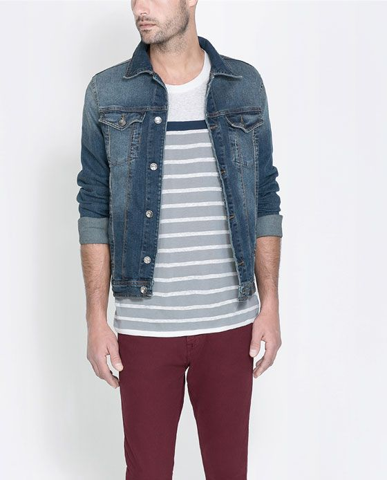 Vestes en jeans homme zara