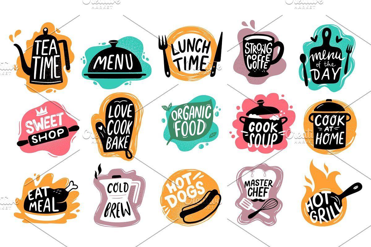 Food Lettering Bakery Kitchen Di 2021 Resep Masakan Inspirasi Desain Grafis Desain