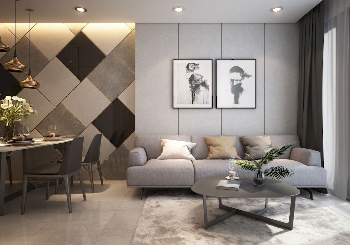 Apartment Design Ideas To Your Space For A More Dynamic Room Homestya Modern Apartment Design Wall Decor Living Room Apartment Small Room Design