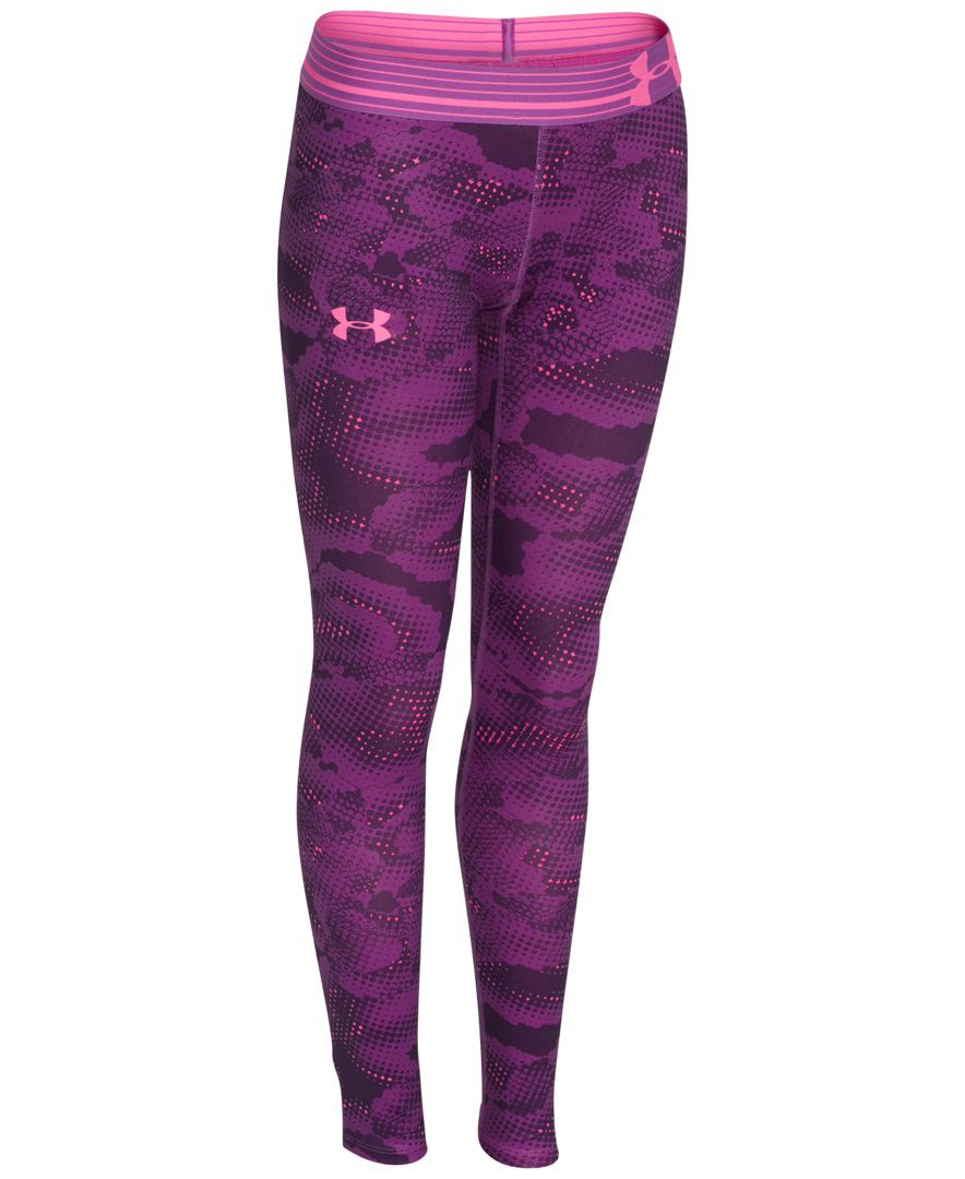 01acaeb7374183 Under Armour Girls' Printed Fitted Leggings | Products | Under ...