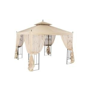 Hampton Bay 10 Ft X 10 Ft Outdoor Patio Arrow Gazebo Gghl00019 Gazebo Gazebo Canopy Portable Gazebo