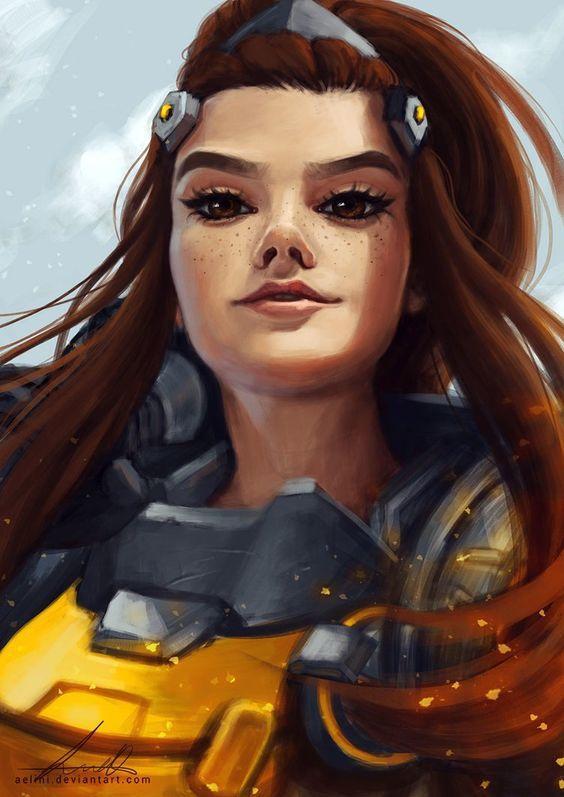 Overwatch Wallpaper Cute Sprays Brigitte Lindholm Overwatch Art Fandom Rysunki I Gry Wideo