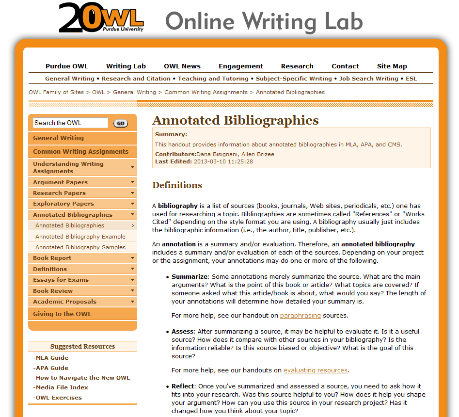 Example Of Annotated Bibliography Asa Format  Psychology Major