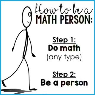 Image result for how to be a math person poster