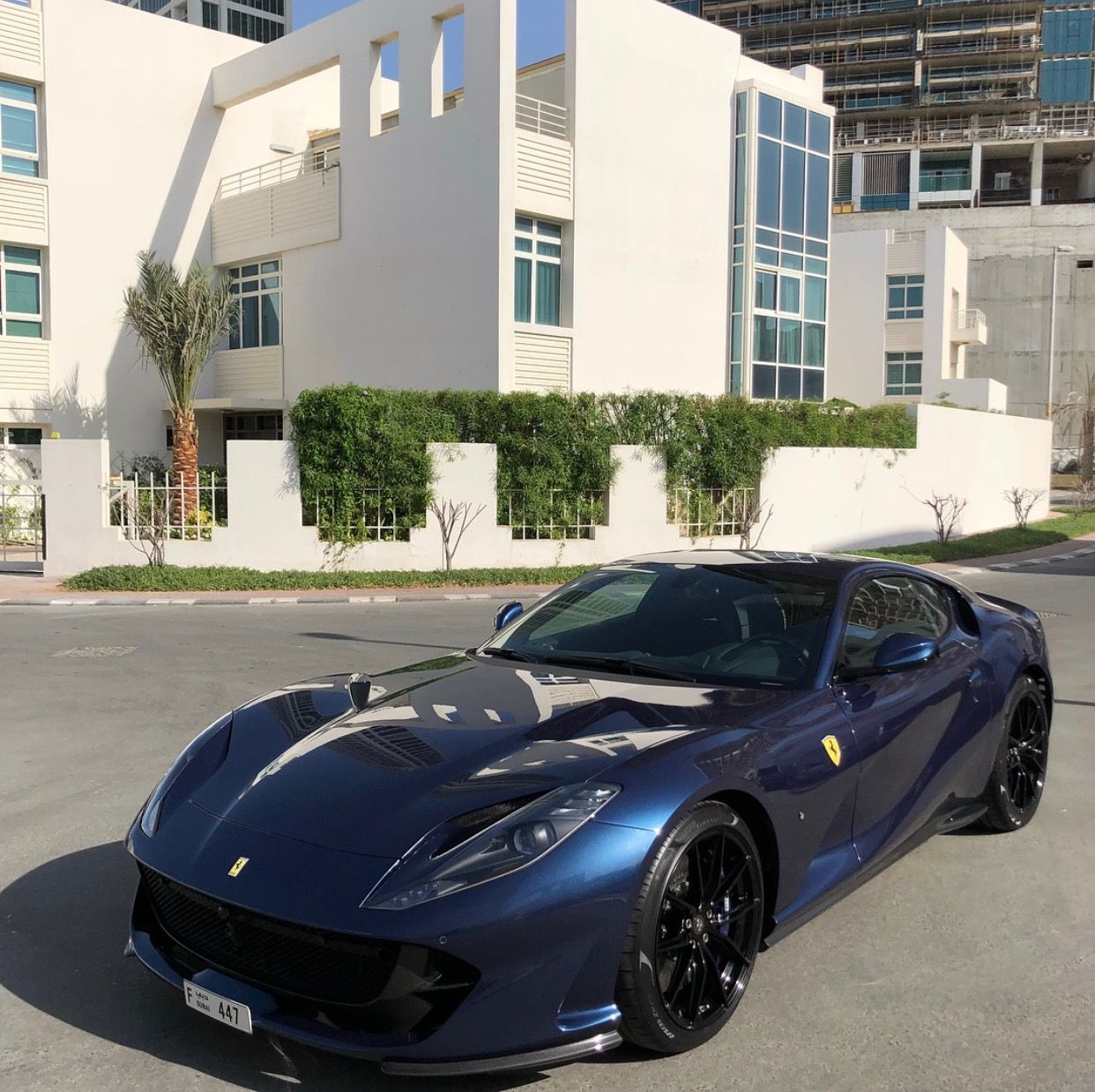 Ferrari 812 Superfast: Ferrari 812 Superfast Painted In Blu Swaters Photo Taken