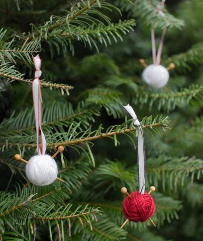 Easy Yarn Ball Ornaments Yarn ball, Yarns and Ornament - christmas decorations diy