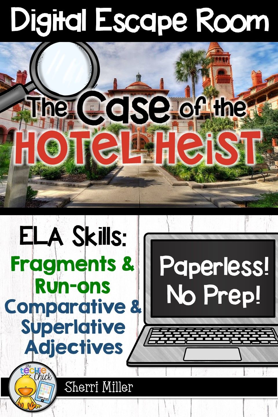 Digital Escape Room The Case Of The Hotel Heist Ela Breakout Activity Digital Escape Room Ela Skills Engaging Lessons