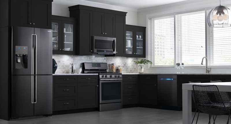11 Ways To Introduce Black Into Your Kitchen Design Decor Trends Cabinets