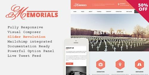 ThemeForest Memorials v2.3.0 Responsive Funeral WordPress Theme Free ...