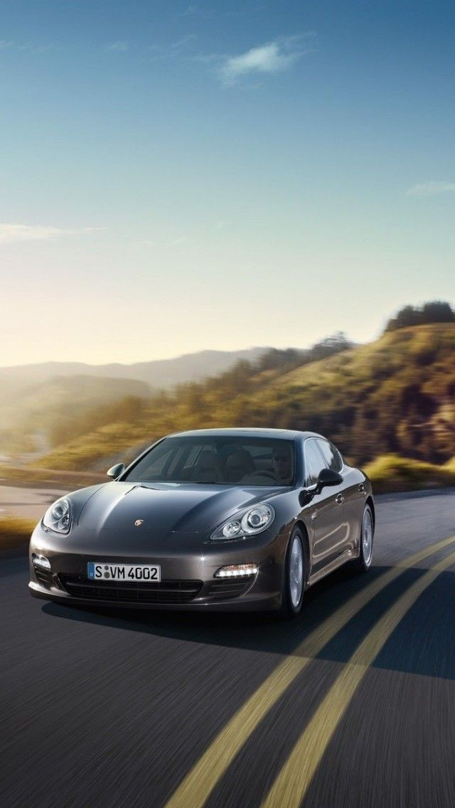 Cool Porsche Panamera Black And White Car Images Hd