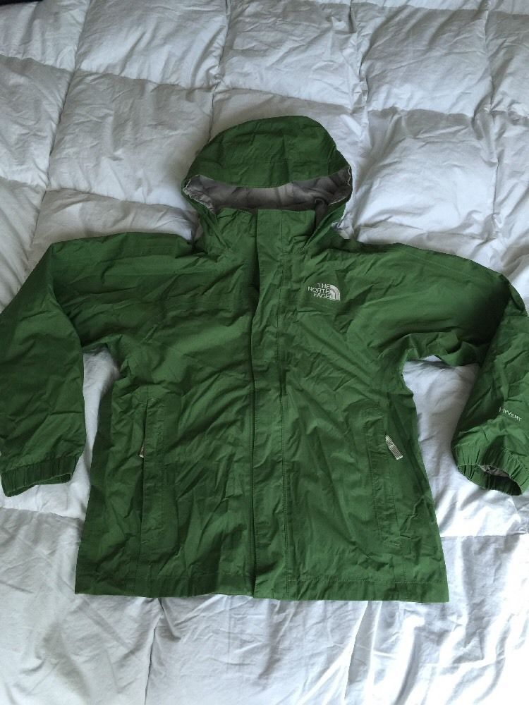The North Face Hyvent Green Rain Jacket Boys Sz M  f1cfb14cafdd