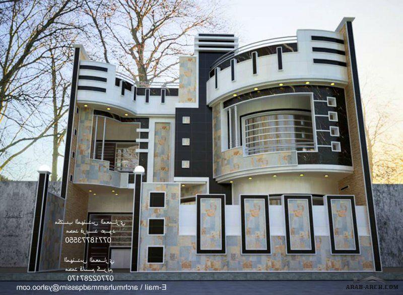 واجهات بيوت العراق مكتب المهندس المعماري محمد فريد عبود Duplex House Design House Design Facade House
