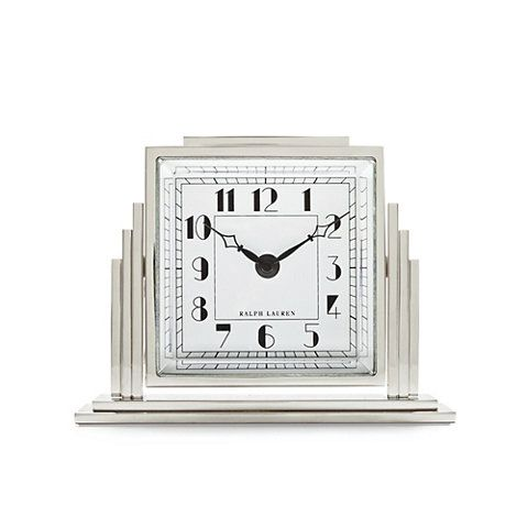 ralph lauren home office accents. athena deco clock silver desk accessories tabletop accents products ralph lauren home office
