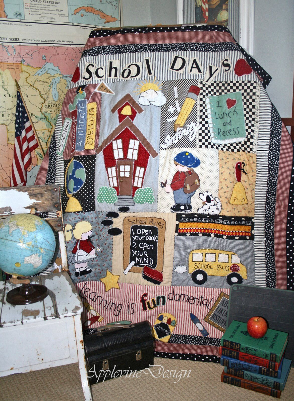 Wall Hanging Quilt Patterns back to school wall hanging quilt pattern - google search | wk