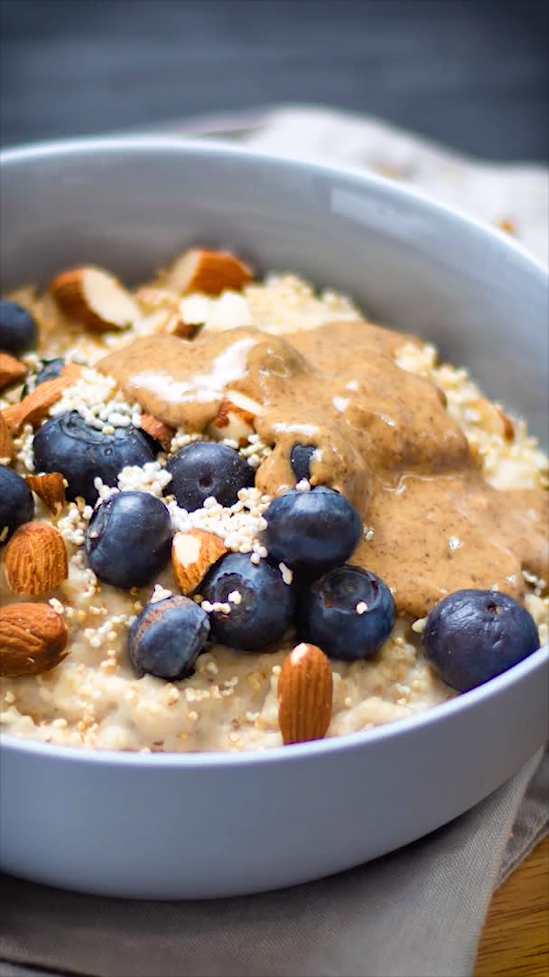 Photo of Clean eating breakfast: almond porridge