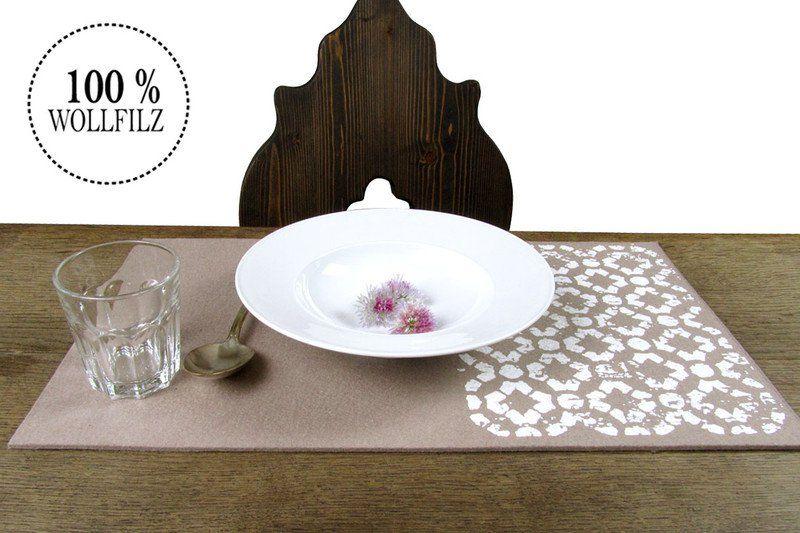 """Platzsets - Tischset Platzset Filzauflage, Motiv """"Ornament"""" - ein Designerstück von ein-raumunikat bei DaWanda"""