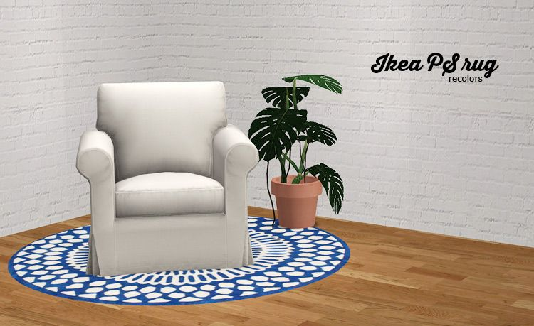 sims 2 palette: IKEA PS rug recolors