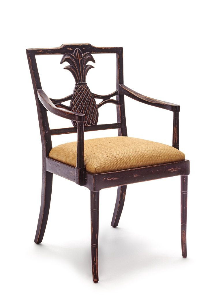 Caribbean Pineapple Dining Chair   Beverly Furniture  Had two of these  custom made when weCaribbean Pineapple Dining Chair   Beverly Furniture  Had two of  . Pineapple Pedestal Dining Table And Chairs. Home Design Ideas