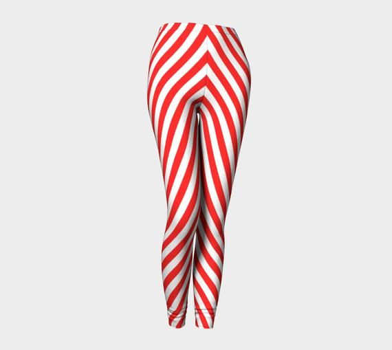 Elf leggings, Christmas leggings, striped leggings, red and white striped leggings, red and white leggings, ugly sweater #stripedleggings