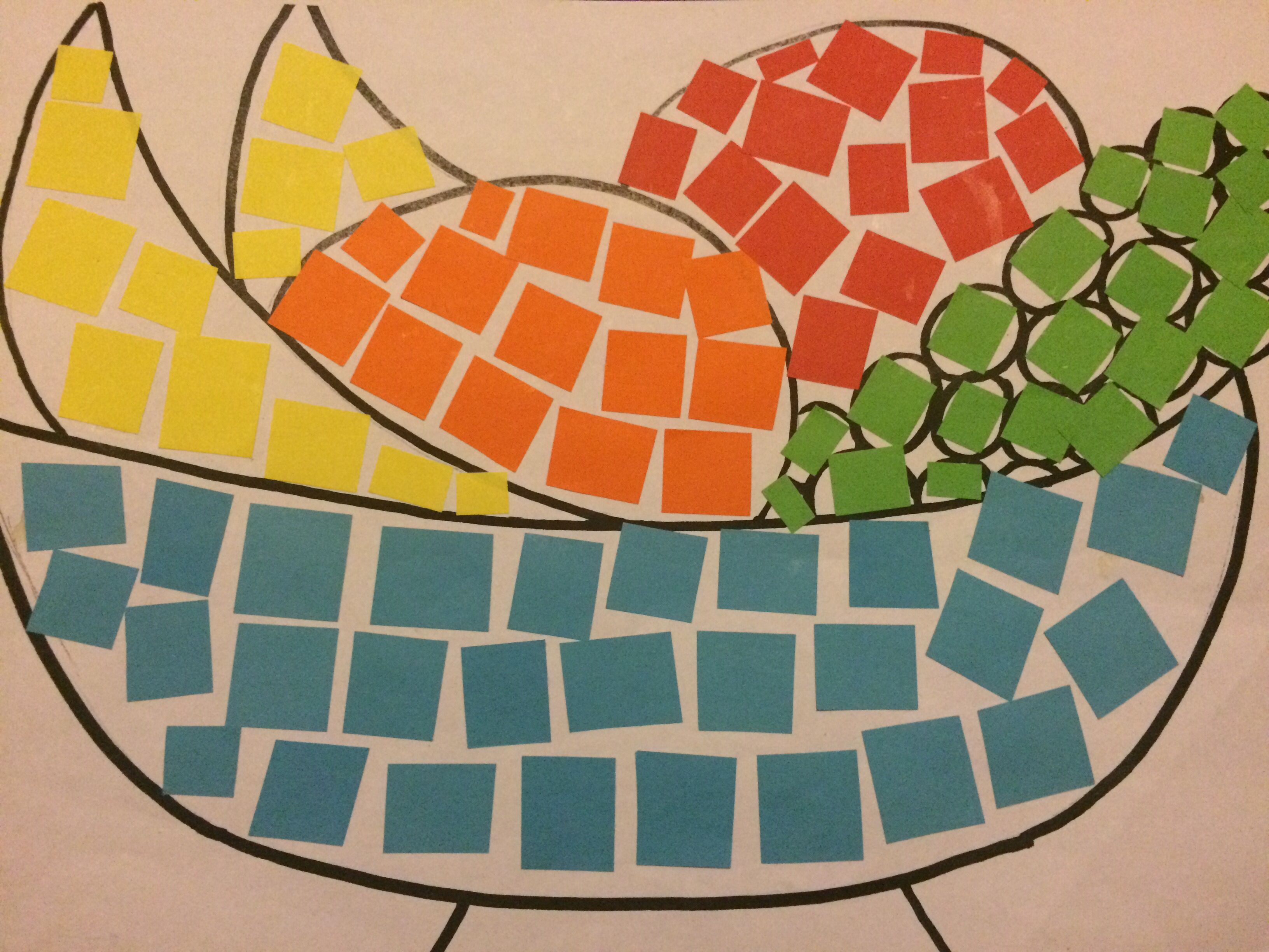 Paper Mosaic Art Stage 1. Simple And Adaptable Huge Range Of Topics