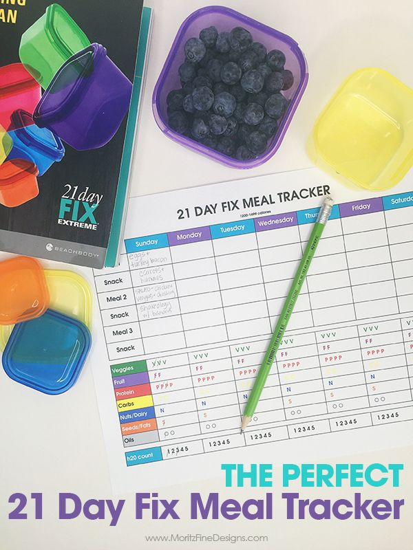 21 Day Fix Meal Tracker is part of 21 day fix meals, 21 day fix tracking, 21 day fix meal plan, Food tracker, 21 day fix menu, 21 day fix planner - I didn't love any of the 21 Day Fix Meal Trackers I got off Pinterest, so I created my own  This is the PERFECT 21 Day Fix Meal Tracker
