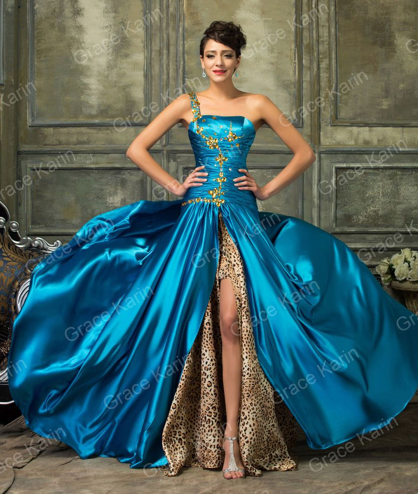 Grace Karin Long Dress Prom Pageant Gowns Leopard Printed Formal ...