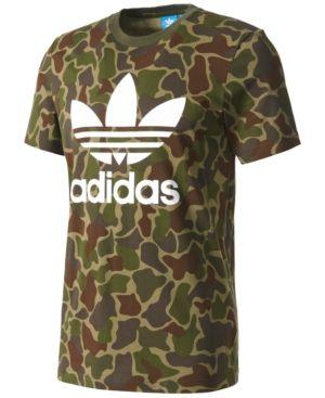 e65c3b6f adidas Originals Men's Camo-Print Cotton T-Shirt - Green XL ...