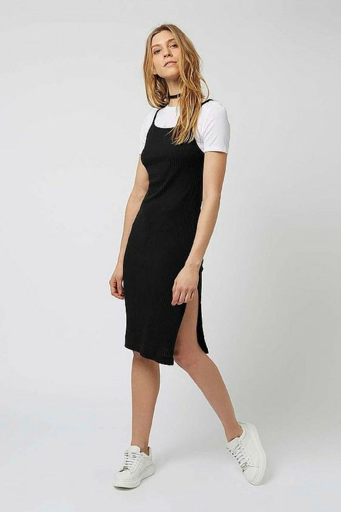 c84935b076e18 Slip Dresses Over T-shirts: This 90s Trend Is Back! | Fashion Tag Blog