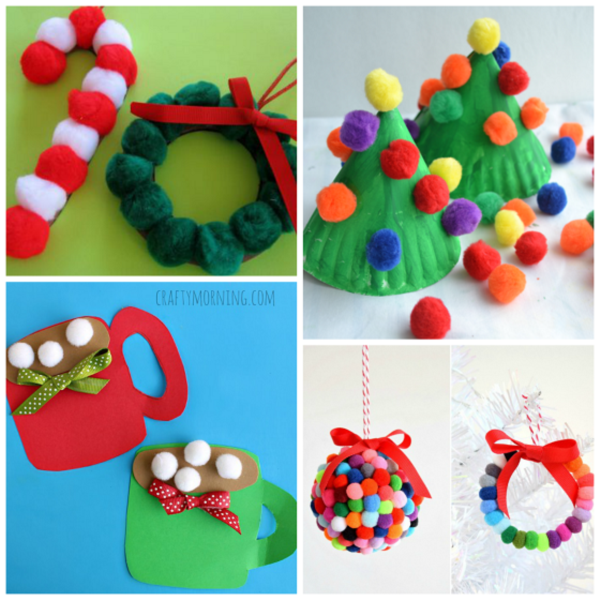 42 Supercute Pom Pom Crafts For Kids To Try Christmas Crafts For Kids Christmas Crafts For Toddlers Crafts