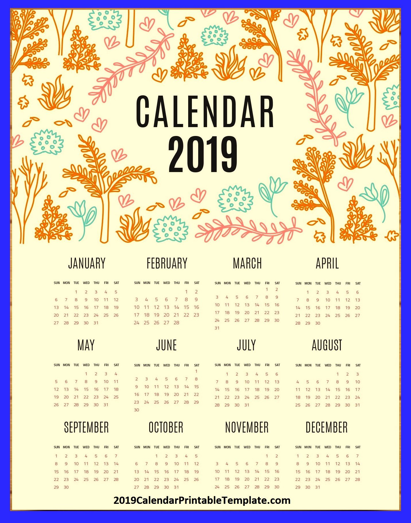 pin by 2019calendarprintabletemplate on 2019 calendar usa in 2018 pinterest