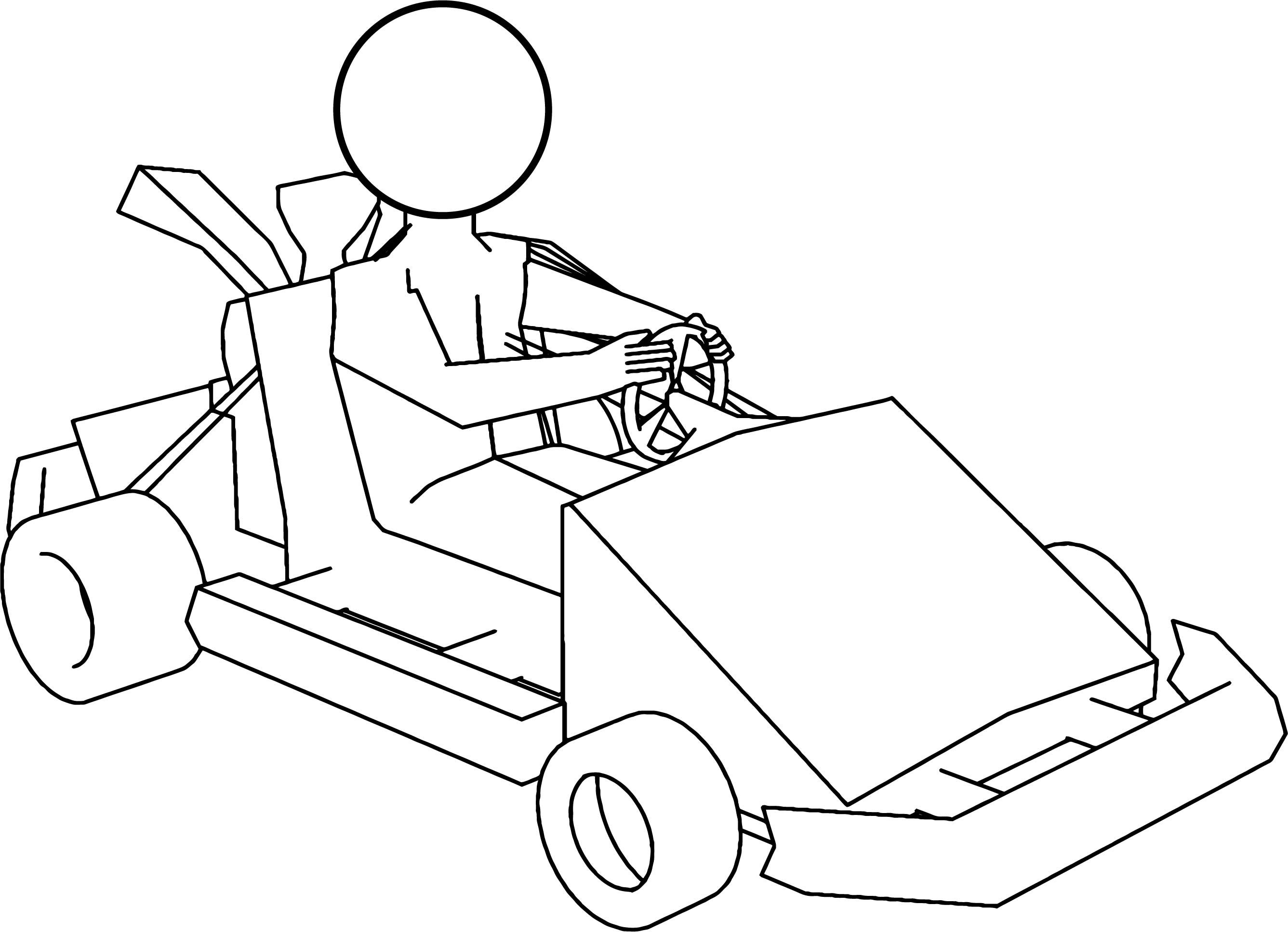 Cool Kart Go Coloring Page Coloring Pages Color Boy Coloring