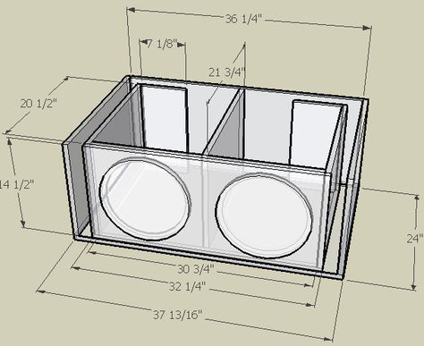 4 12 Subwoofer Box Design 1 Subwoofer Box Design Subwoofer Box Diy Subwoofer Box