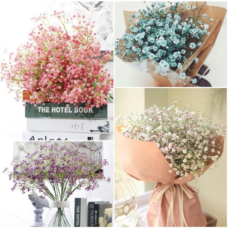 Home Artificial Fake Baby S Breath Flowers Bouquet Wedding Gypsophila Decor Ebay Flower Centerpieces Wedding Silk Flowers Wedding Diy Wedding Flowers Fake