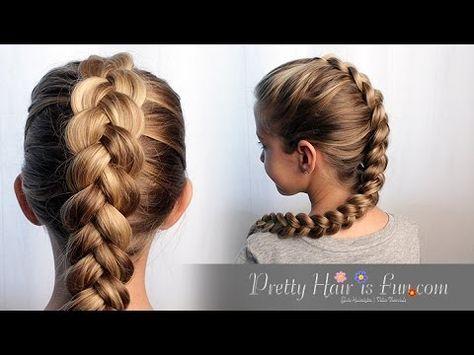 How To Easy Pulled Dutch Braid Tutorial Pretty Hair Is Fun Youtube Geflochtene Frisuren Flechten Lernen Haare Kinderfrisuren