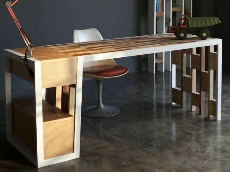 Bureau bois design belles propositions bureaus