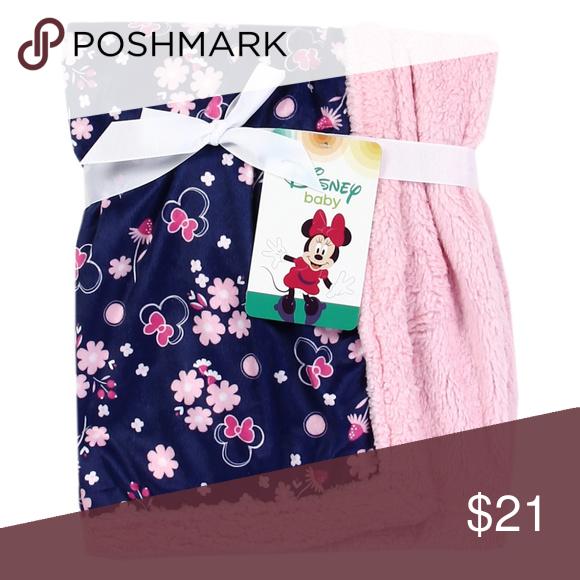 One Left Minnie Soft Mink Sherpa Baby Blanket Sherpa Baby Blanket Navy Pink Baby Blanket