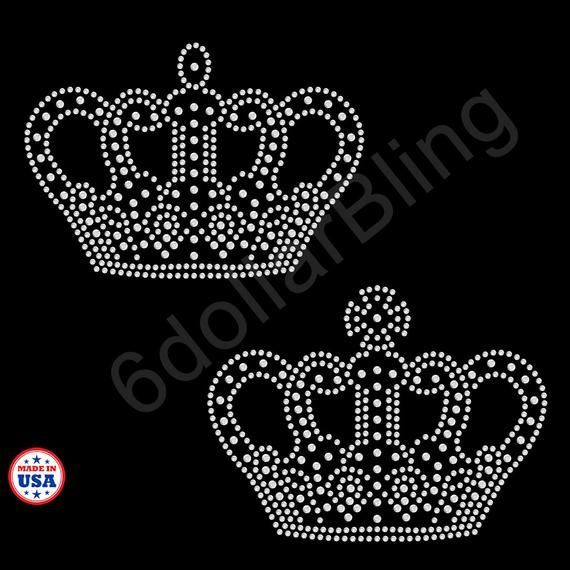 Rhinestone Iron On Transfer Fancy crown bling sparkle applique - Make your own Shirt DIY! #howtoapplybling Rhinestone Iron On Transfer Fancy crown bling sparkle applique - Make your own Shirt DIY! #howtoapplybling