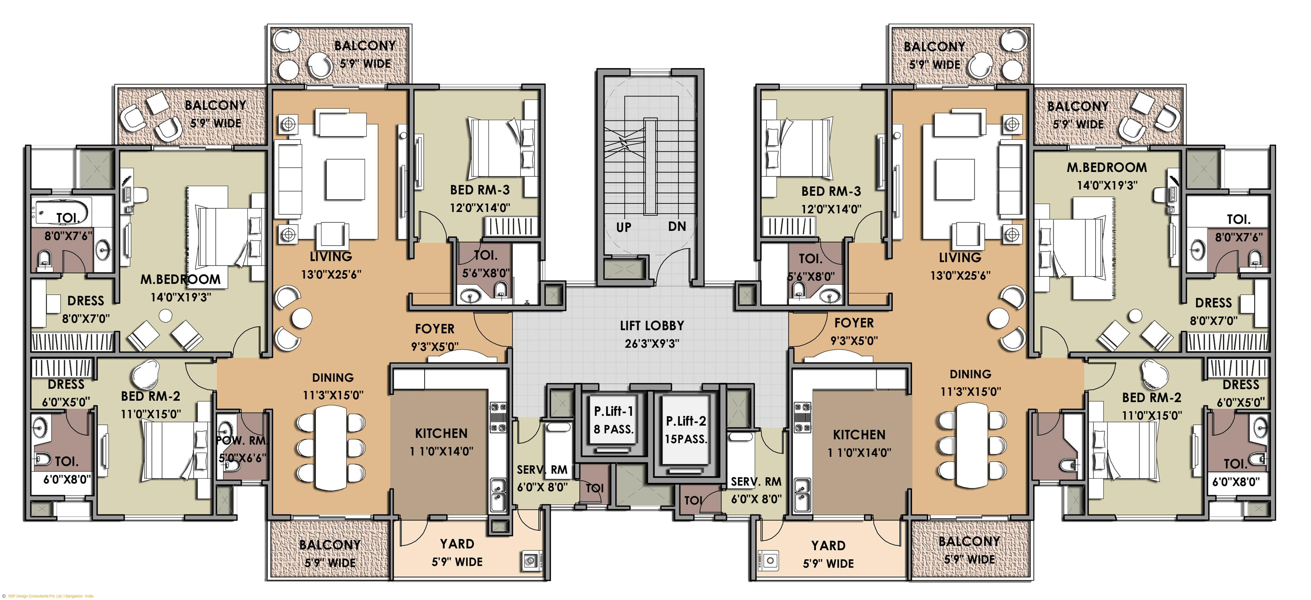Luxury Apartment Complex Apartment Floor Plans House Floor Plans Residential Building Plan