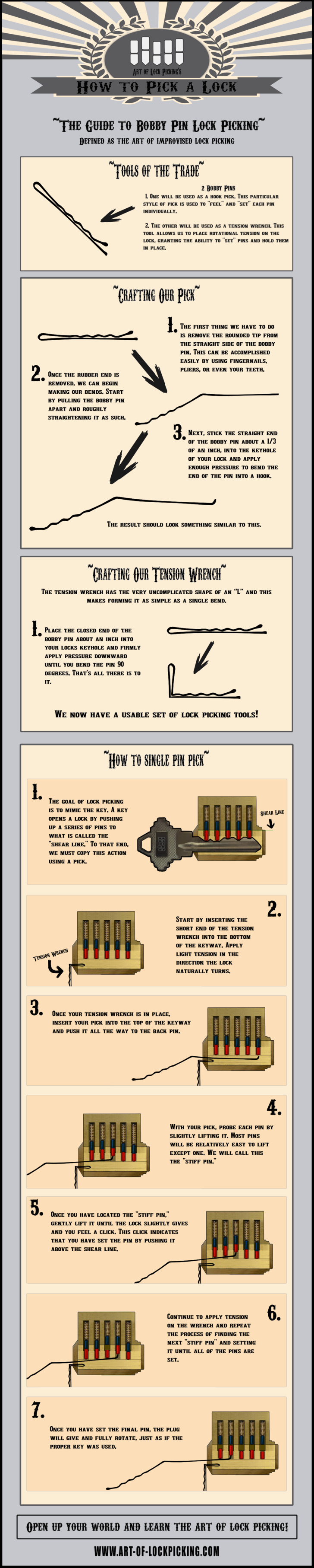 how to pick a lock with a bobby pin imgur [ 728 x 3628 Pixel ]