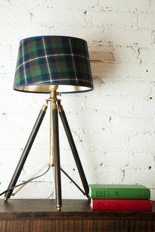 Tripod Lamp with Tartan Shade | Tartan, Tripod and British decor