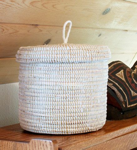 Solid Color African Baskets - Handmade in Senegal | Swahili Modern