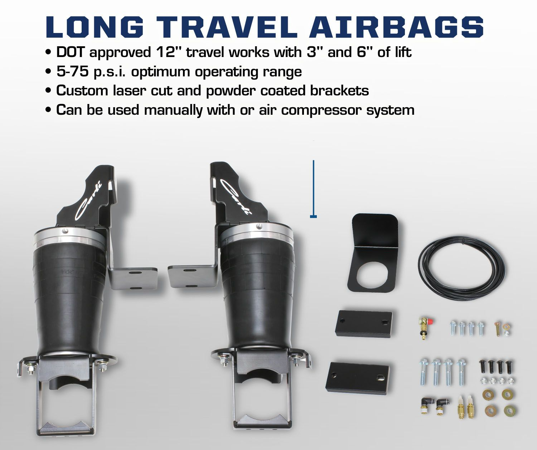 Long Travel Air Bags for Dodge Ram Suspension Air Assist