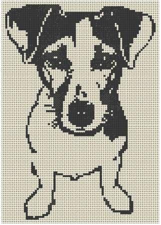Grilles Jack Russel Et Chats C2c Crochet Pinterest Punto