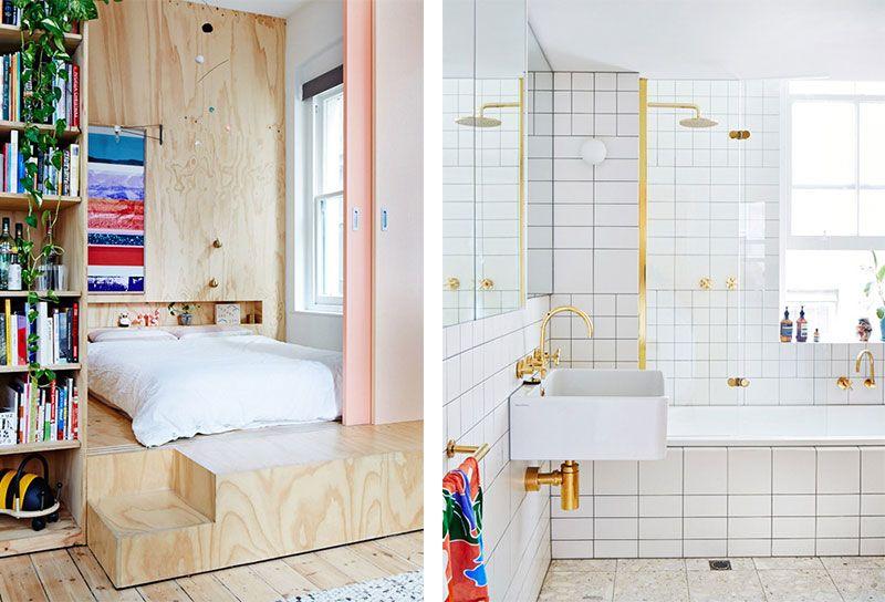 Underlayment In Badkamer : Bleubird badkamer met koper goud en underlayment slaapkamer