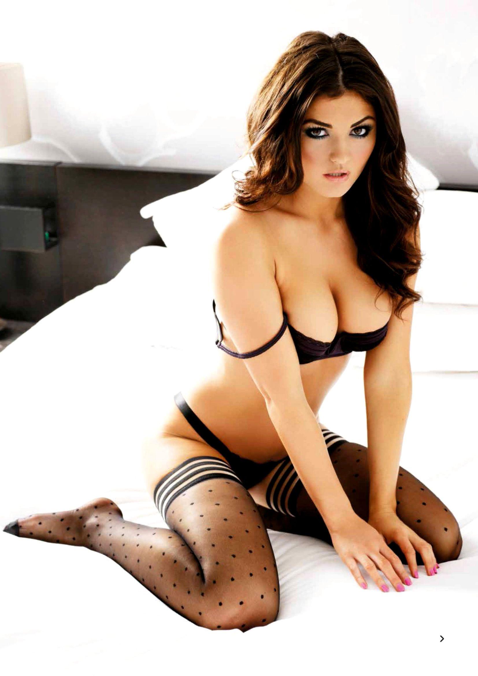 Your Morning Jolt India Reynolds Hot Women Lingerie Bed
