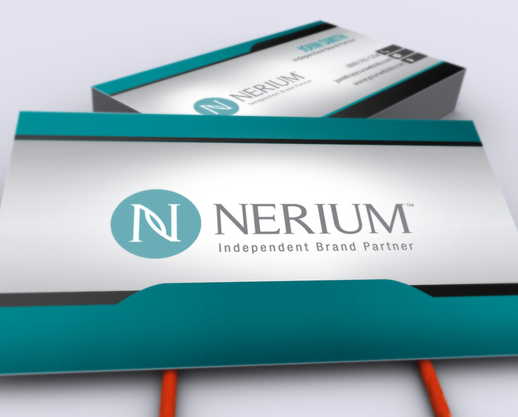 New Business Card Designs Are Here For Nerium Brand Partners Mlm Nerium Print Paper Graphicdes Printing Business Cards Free Business Cards Self Branding