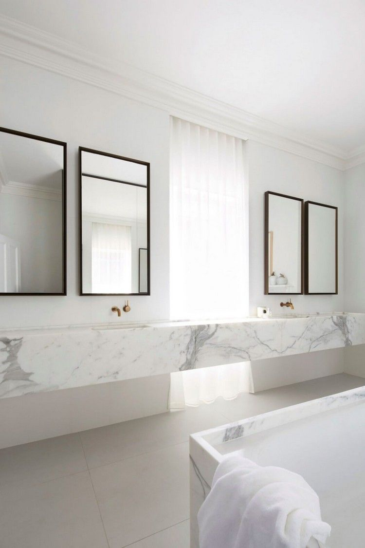 Marmor Im Badezimmer Modern Inszenieren 40 Ideen Fur Ein Minimalistisches Bad Minimalistische Bader Badezimmer Innenausstattung Minimalistisches Badezimmer