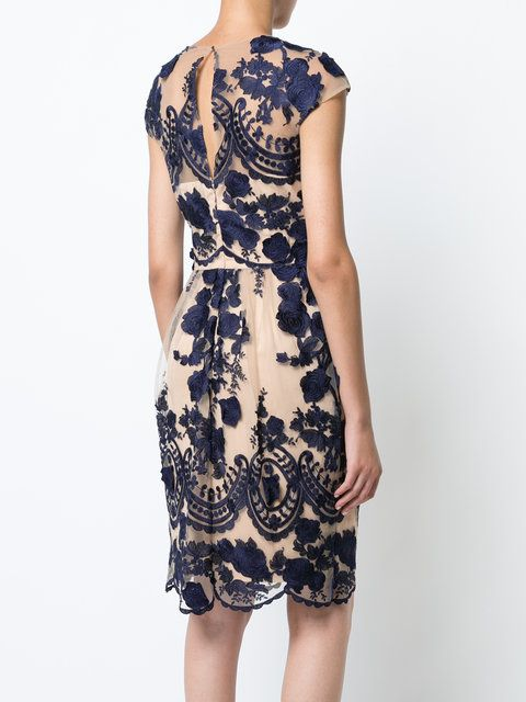 Marchesa Notte floral embroidered dress Marchesa Notte floral embroidered  dress ...